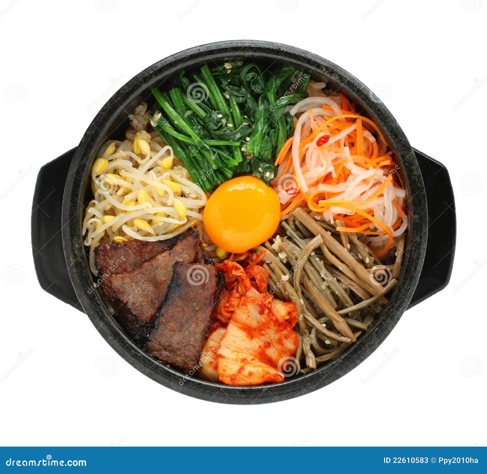 bibimbap, koreanische küche stockfotos - bild: 22610583