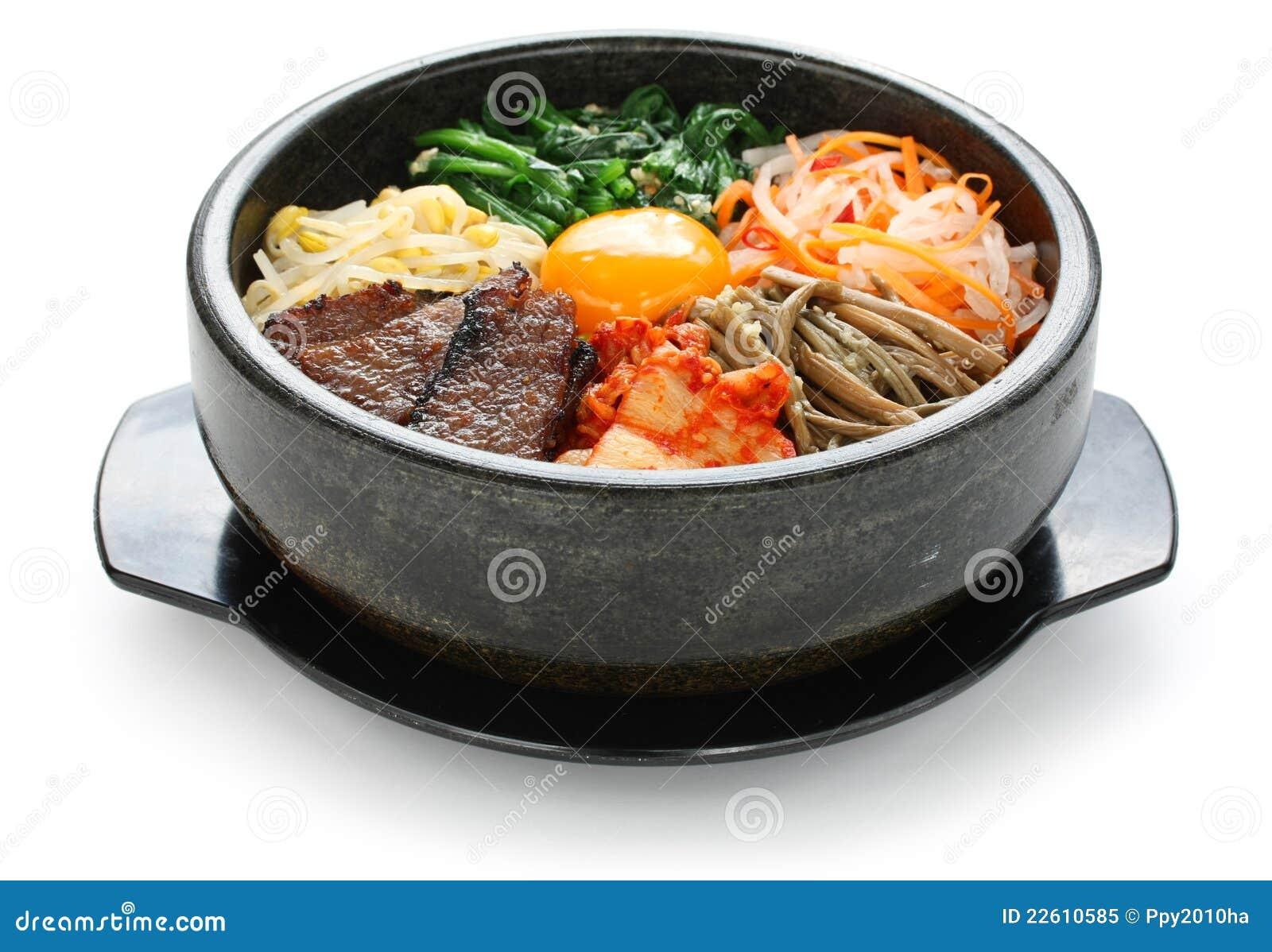 bibimbap, koreanische küche lizenzfreies stockfoto - bild: 22610585
