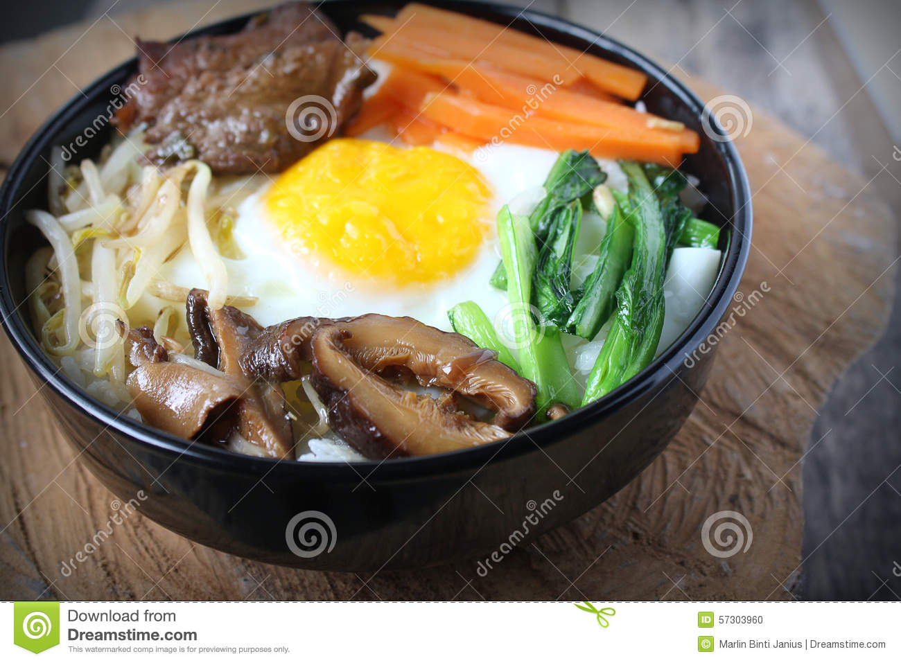 Bowl of bibimbap royalty free stock photography for Authentic korean cuisine