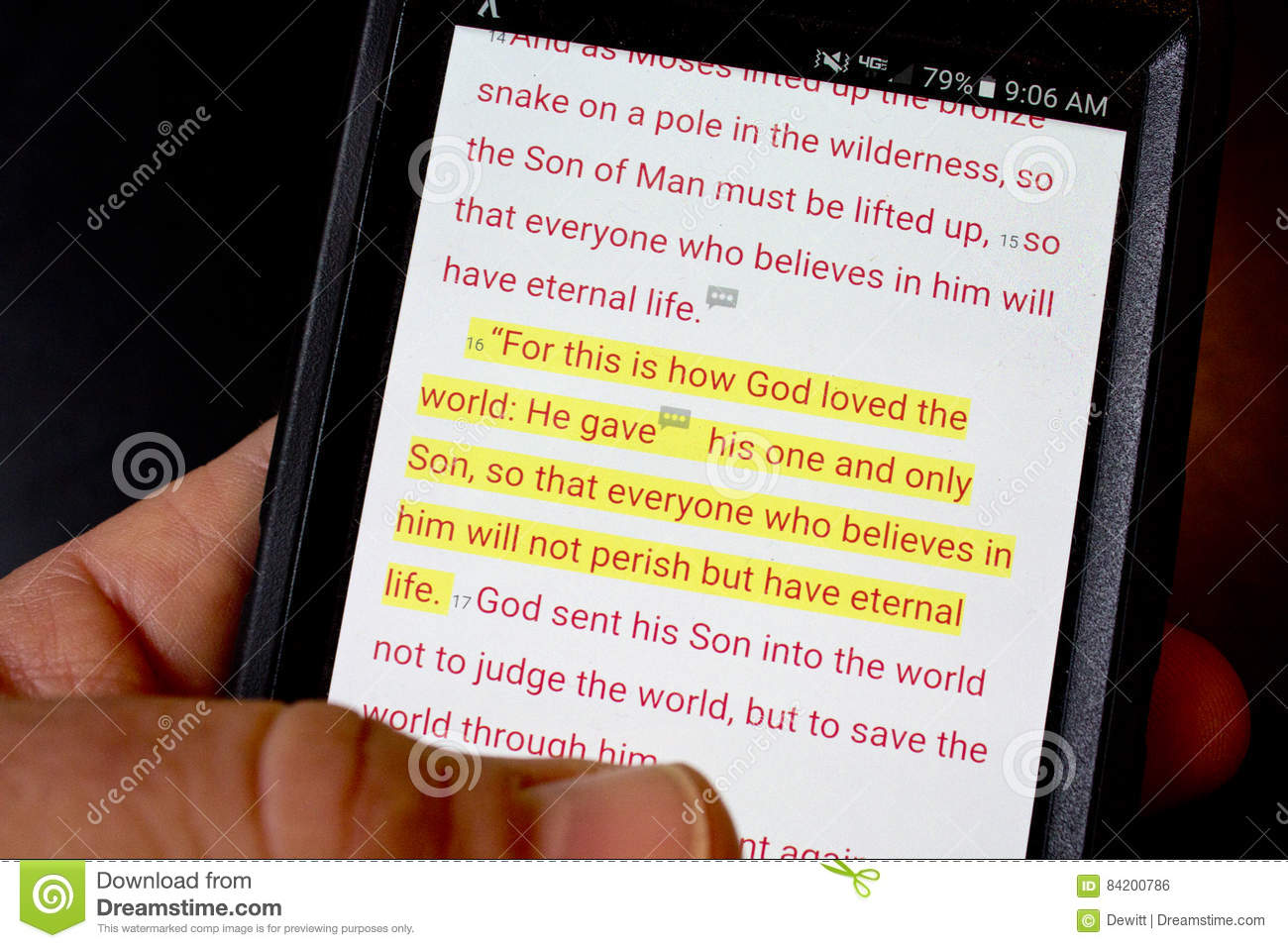 Bible app stock photo  Image of technology, bible, phone