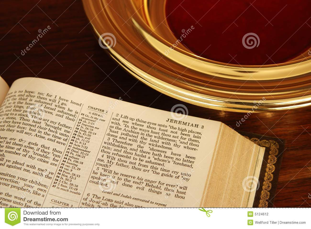 Bible and Collection Plate stock photo. Image of religious ...