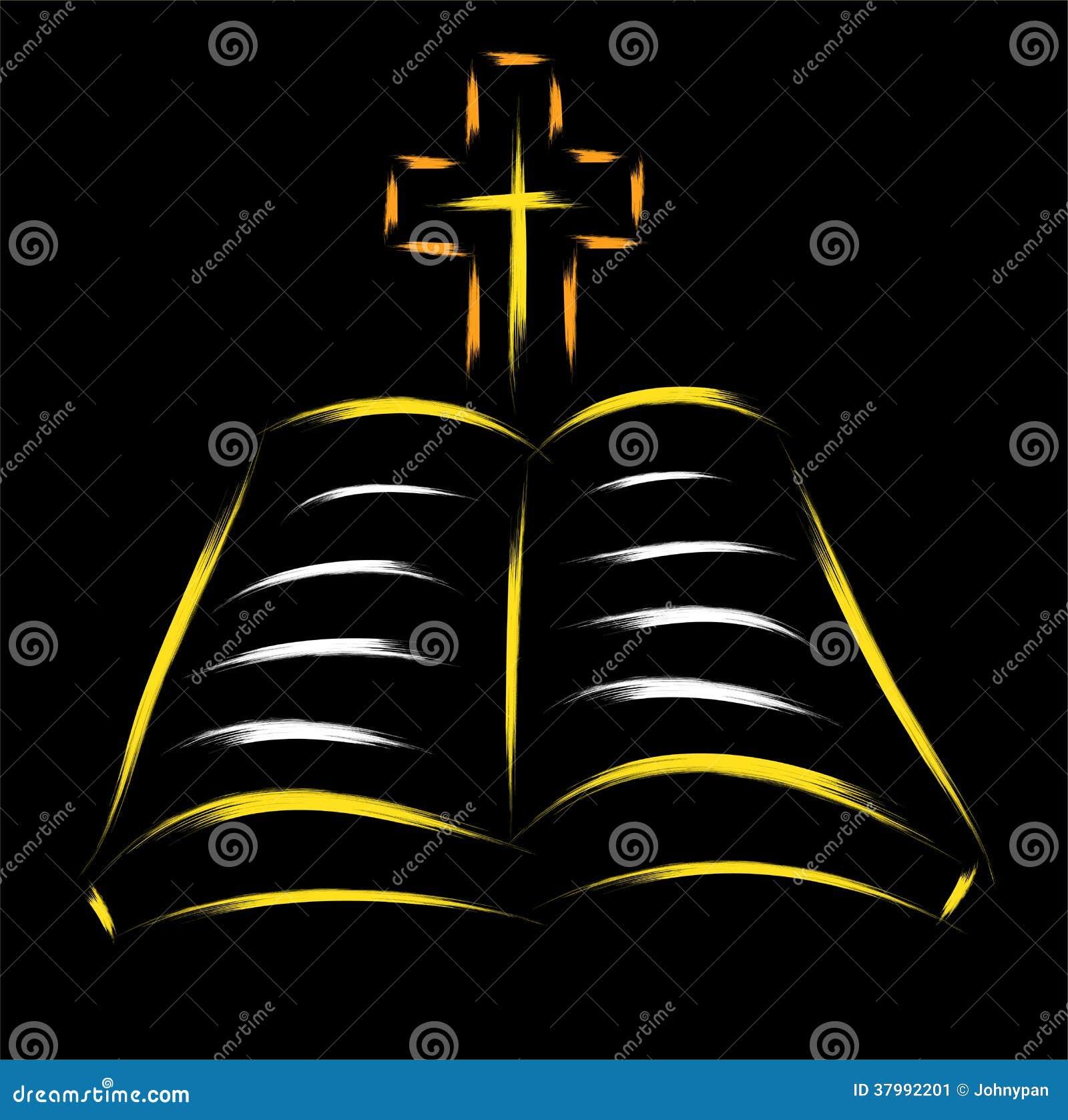 bible and cross stock image image 37992201