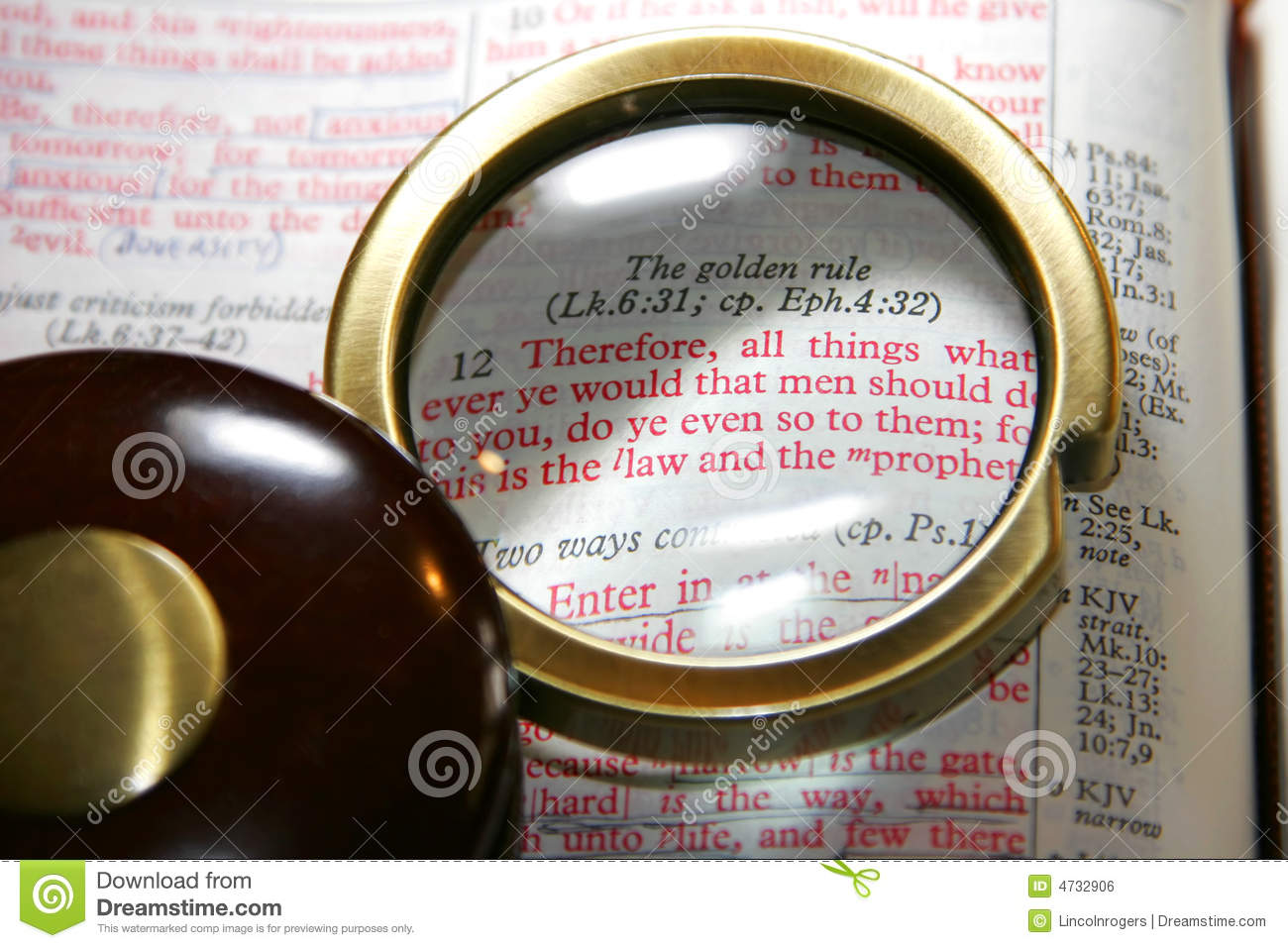 Bible Golden Rule Stock Photo Image Of Highlight Lifestyle 4732906