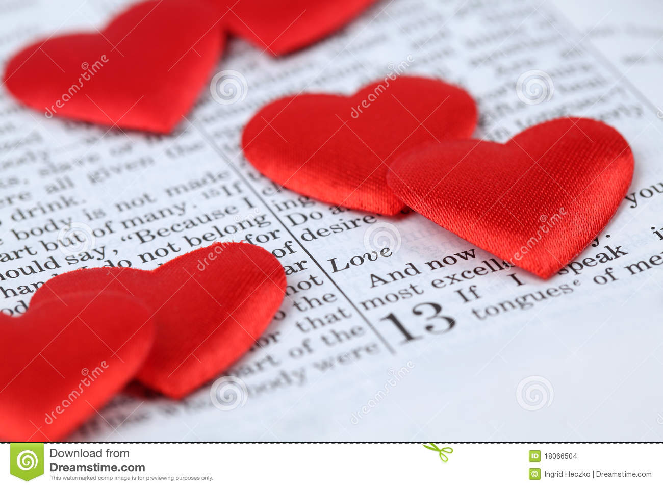 Bible open to 1st corinthians 13 a passage about love and little