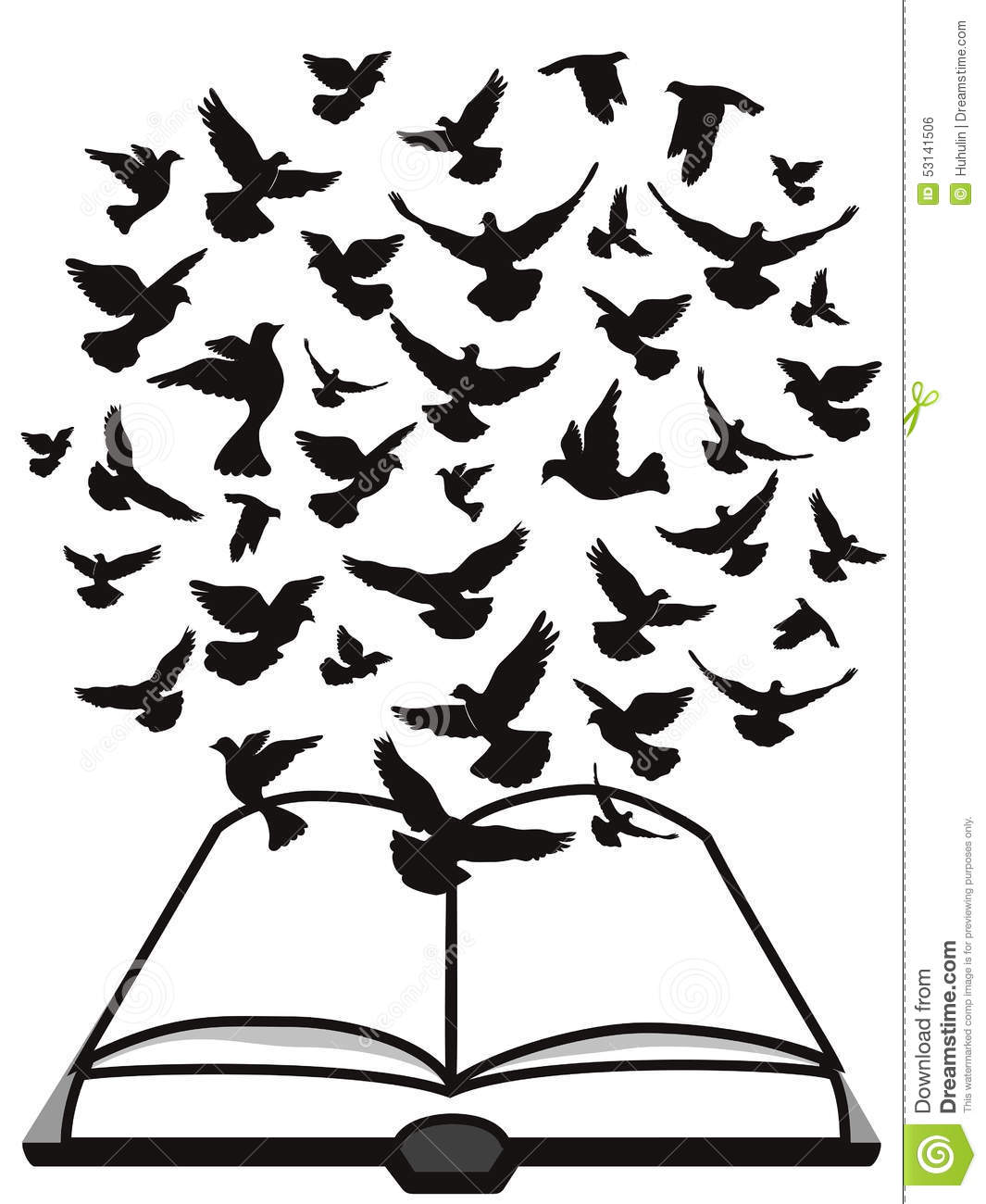Bible Holy Spirit A Group Of Dove Flying Above The Bible