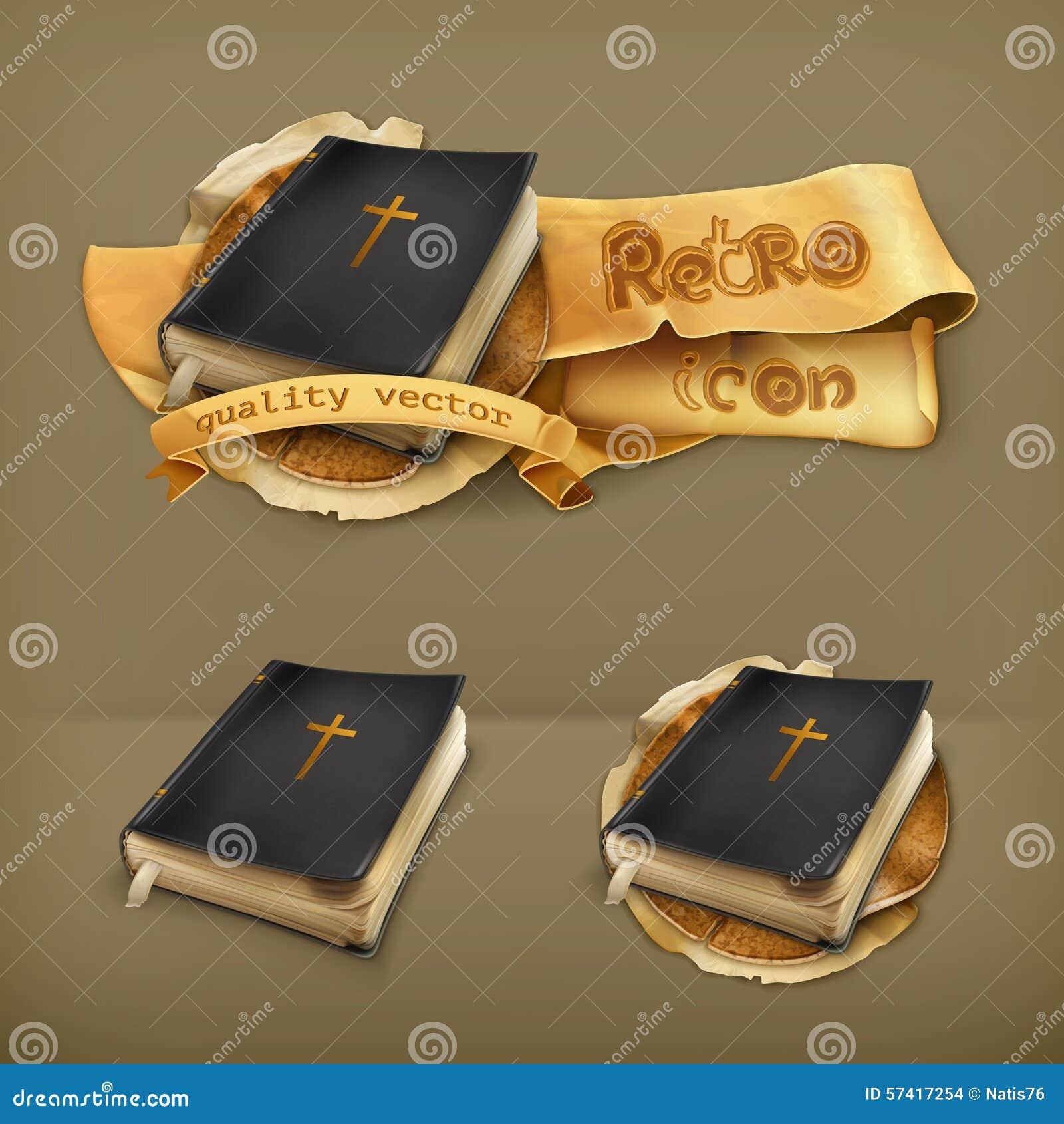 Bible, icônes de vecteur