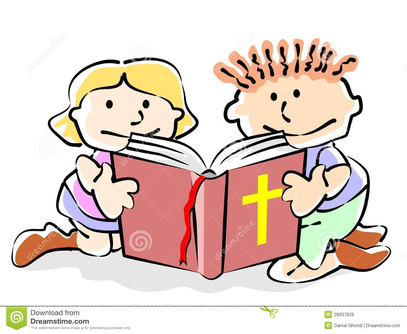 Child Reading Bible Stock Illustrations – 115 Child Reading Bible ...