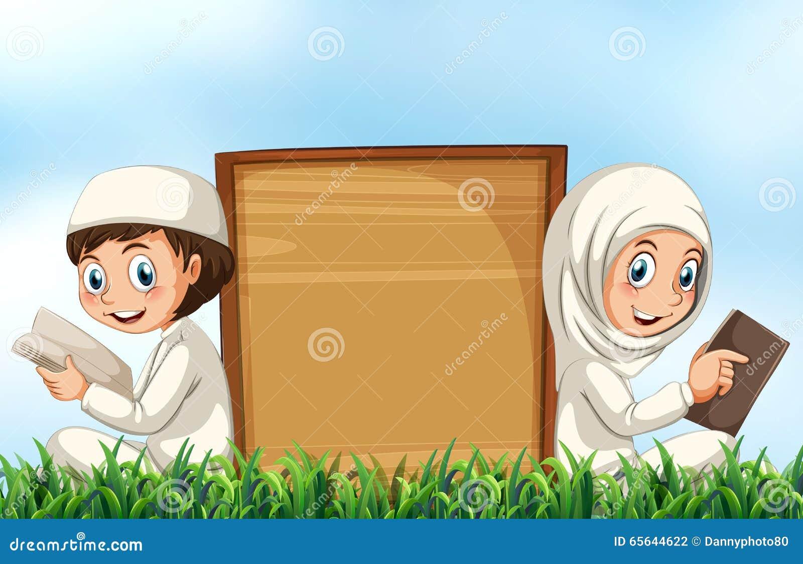 Bible musulmane de lecture de couples sur l herbe