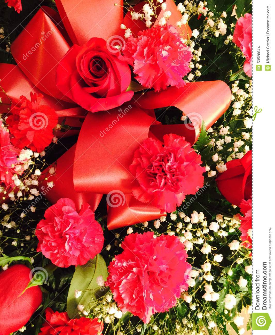 red rose and carnation floral bouquet stock photo image of