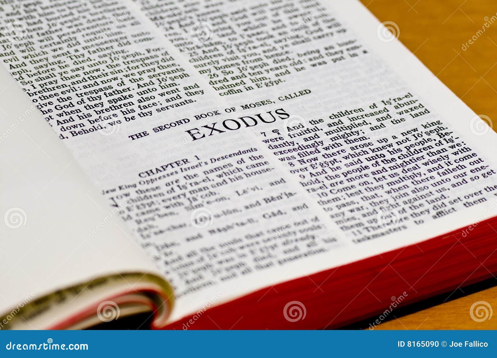 Bible Page - Exodus stock photo. Image of read, exodus ...