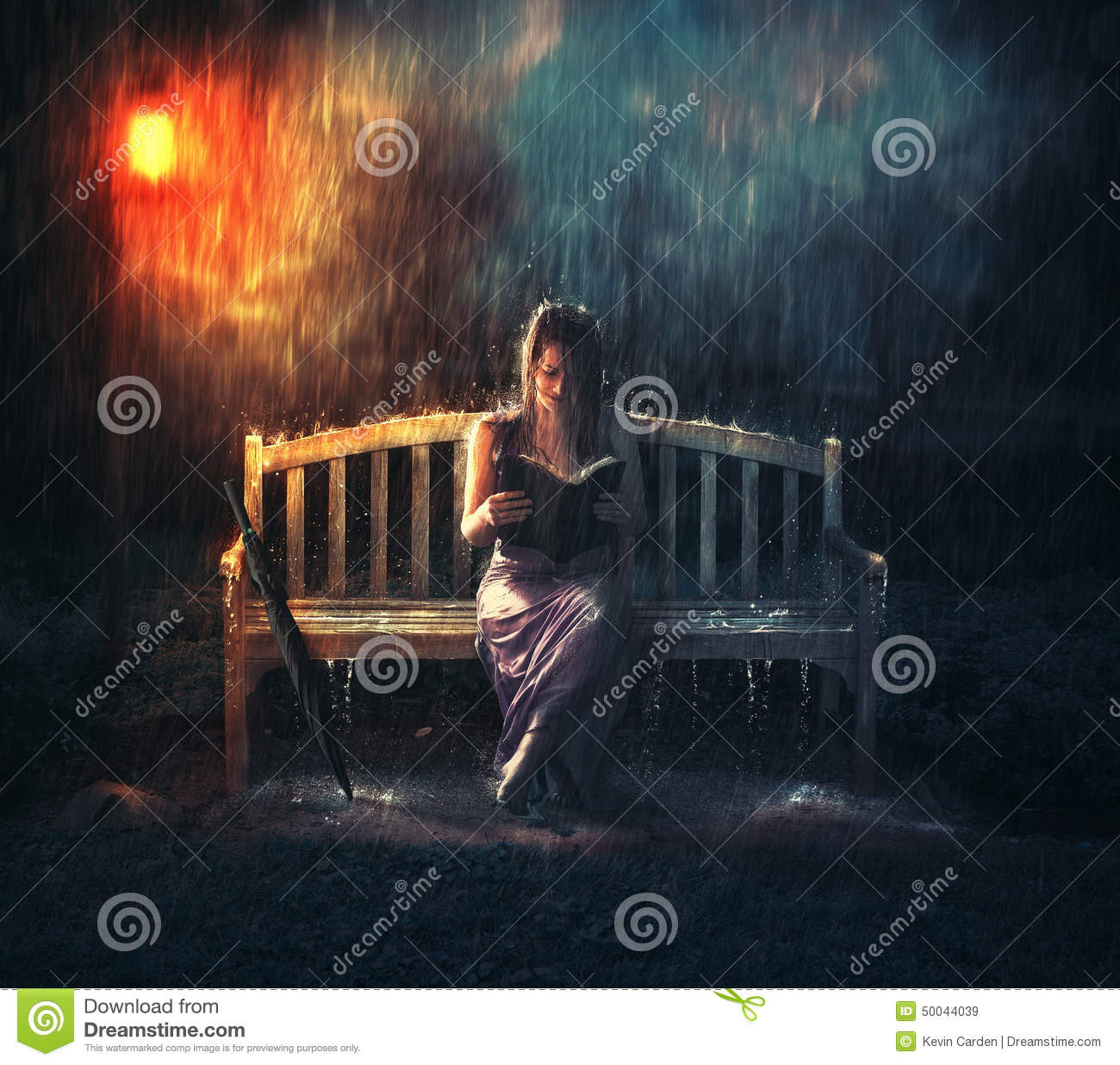 Bible Reading During Storm Stock Image Image 50044039