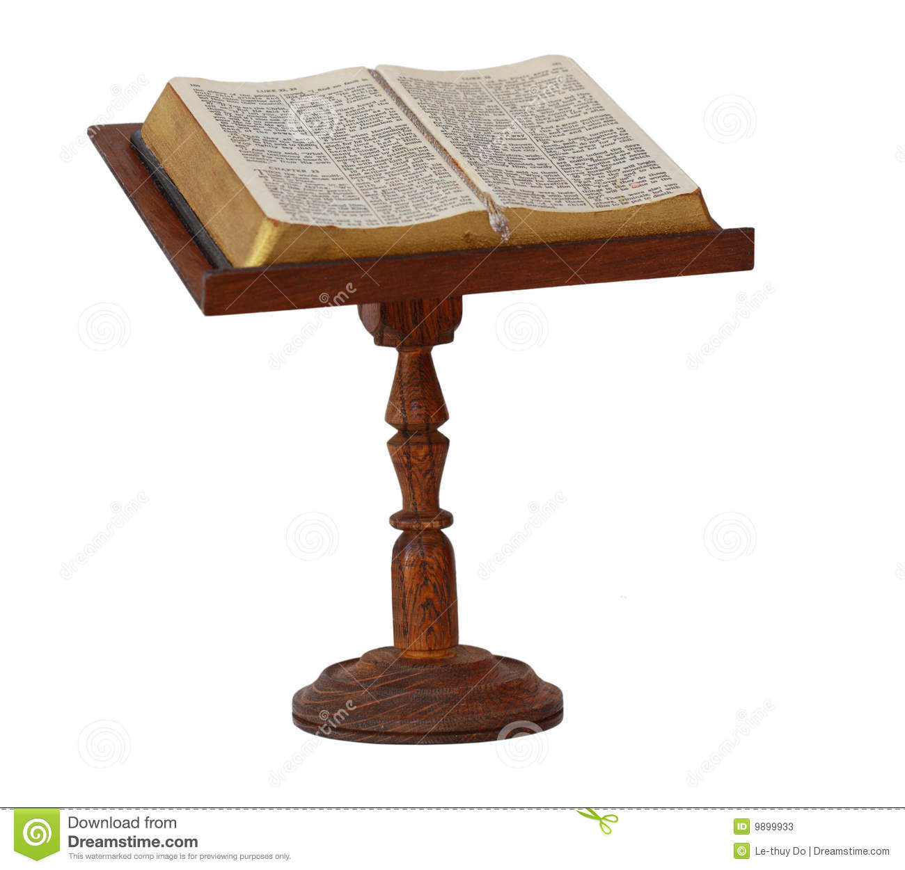 Wooden Bible Stand ~ Bible on stand stock photos image