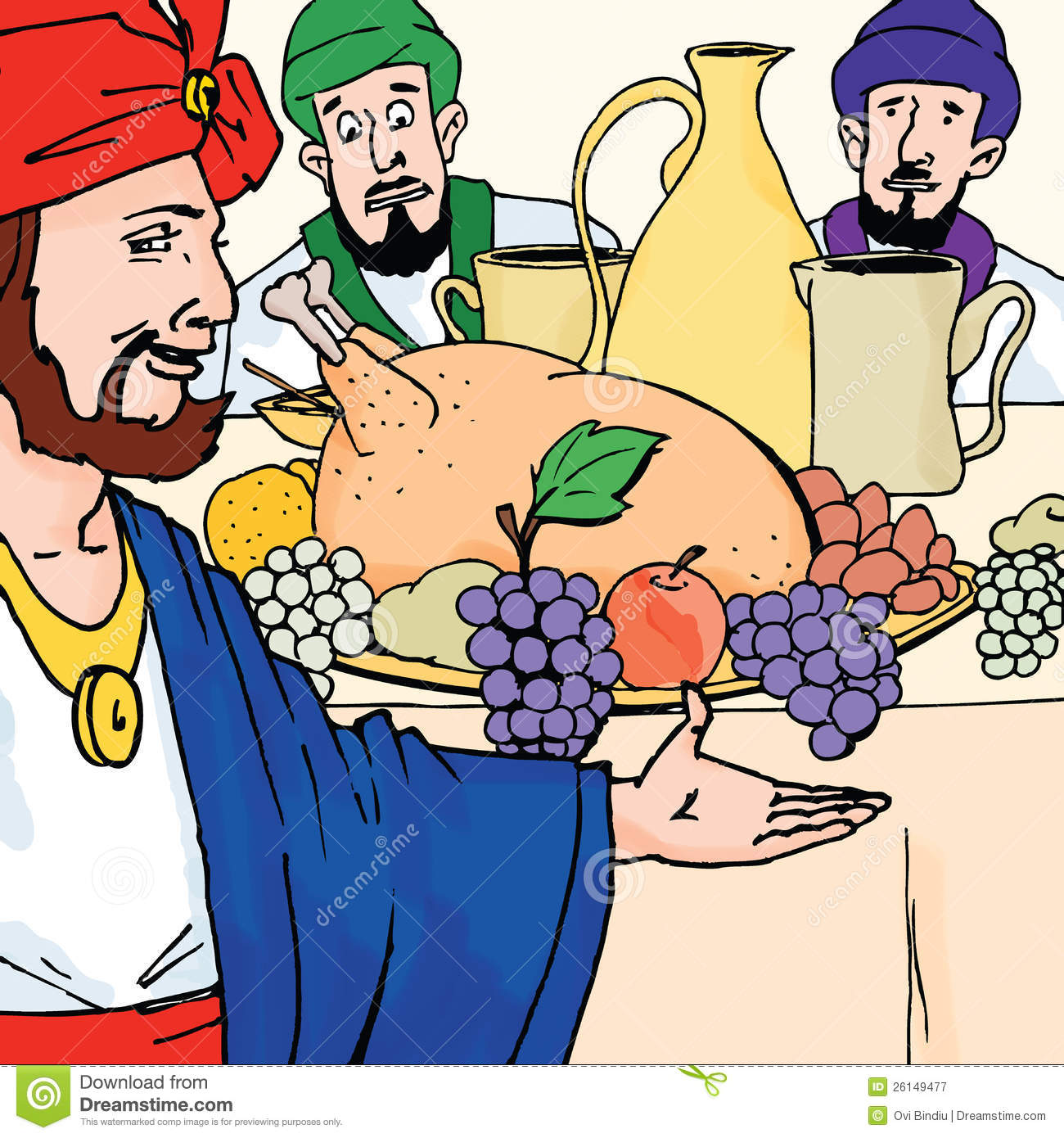 Bible Stories - The Parable Of The Wedding Banquet Royalty Free ...