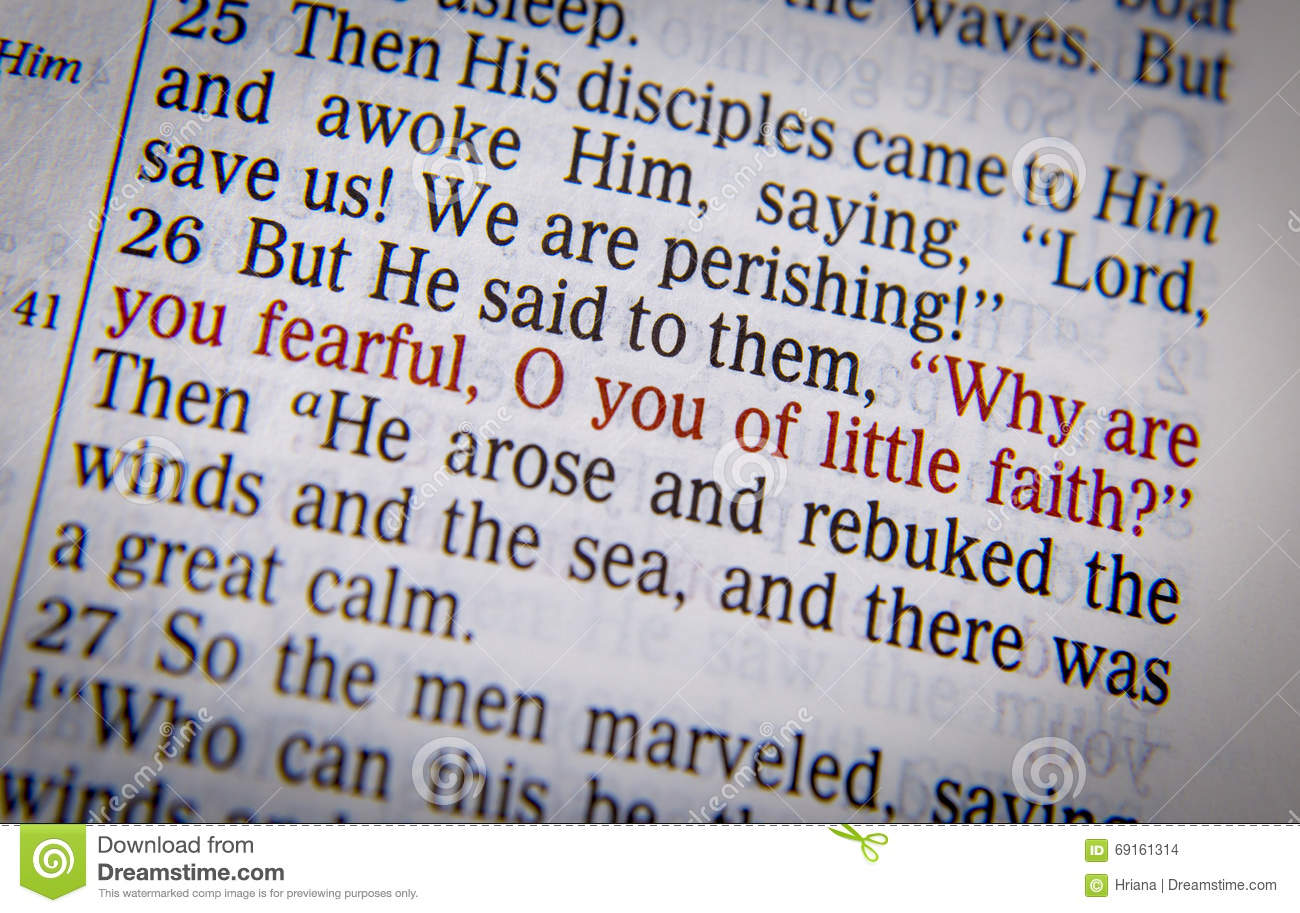 Bible text - Why are you so fearful