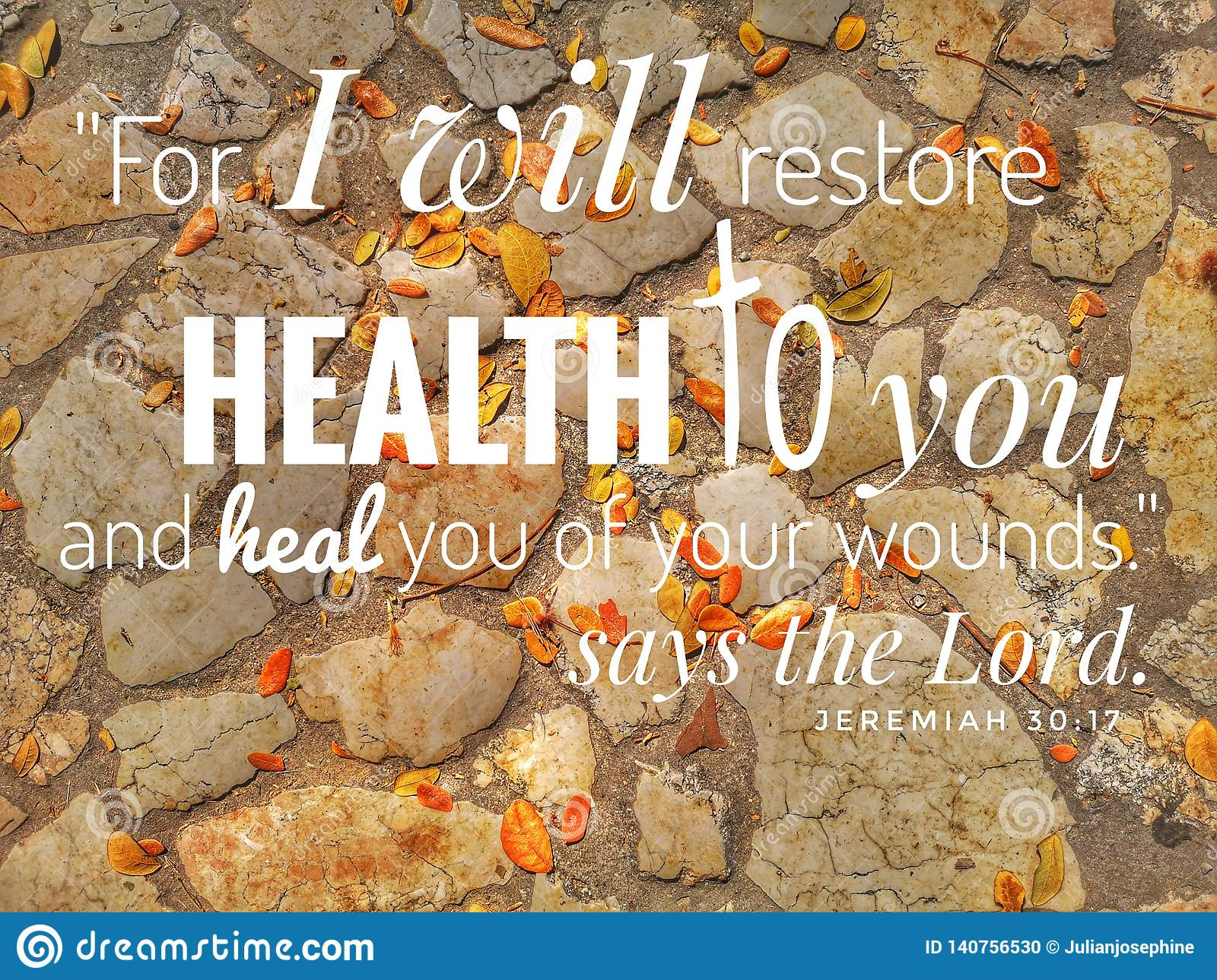 For I Will Restore Health Design For Christianity With