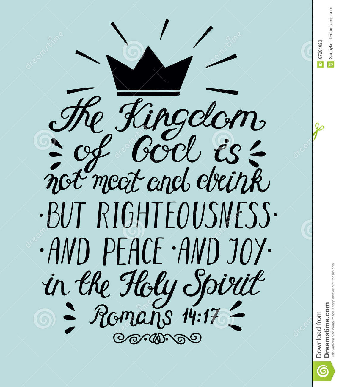 Bible Verse The Kingdom Of God Is Not Meat And Drink But ...