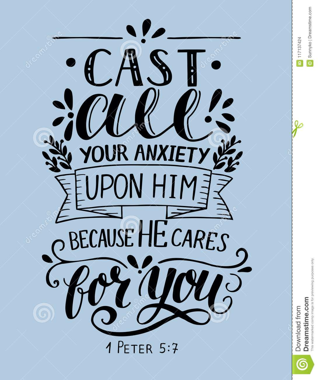 Bible Verse Made Hand Lettering Cast All Your Anxiety Upon Him