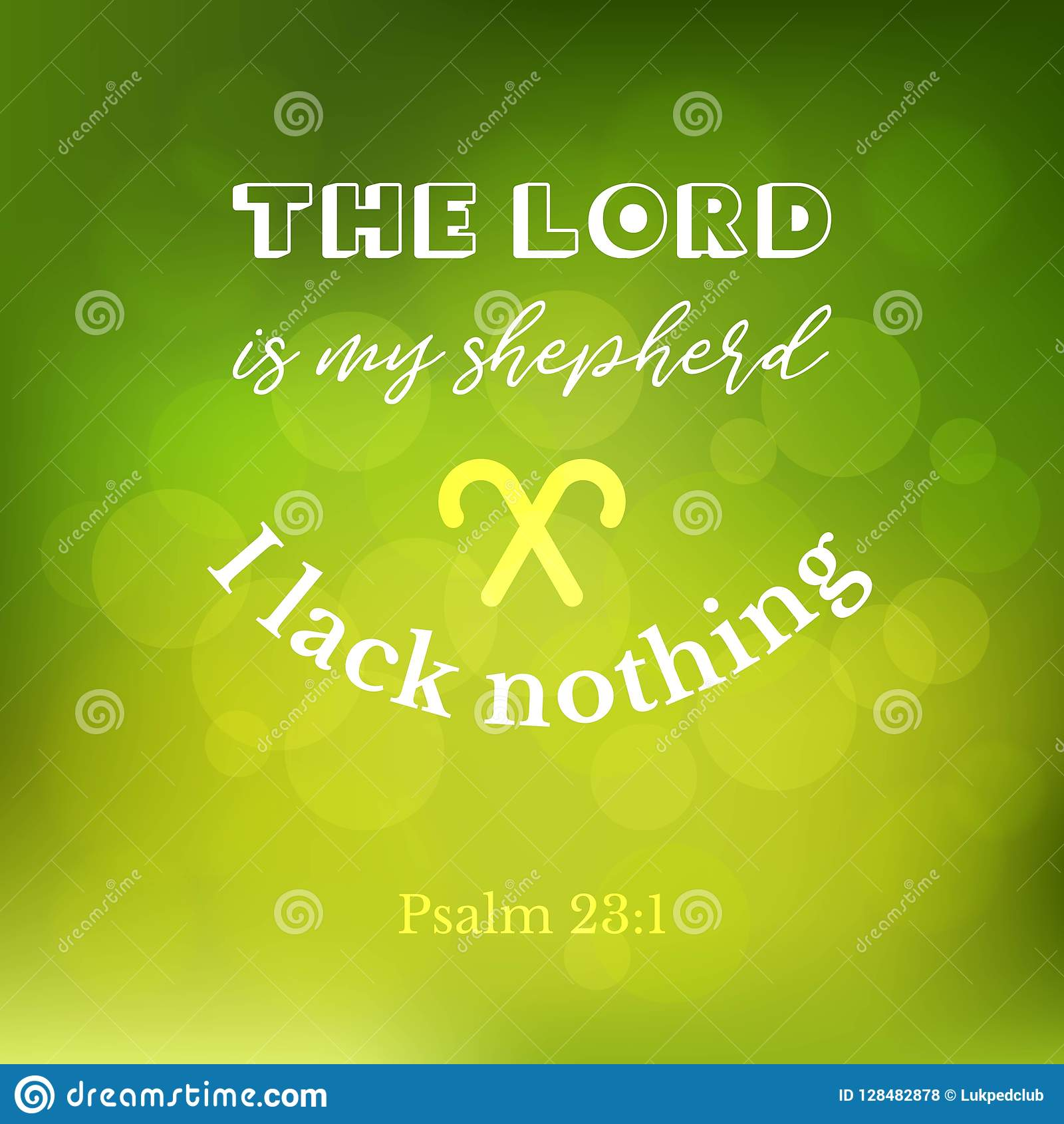 Bible Verse From Psalm On Bokeh Background Stock Vector