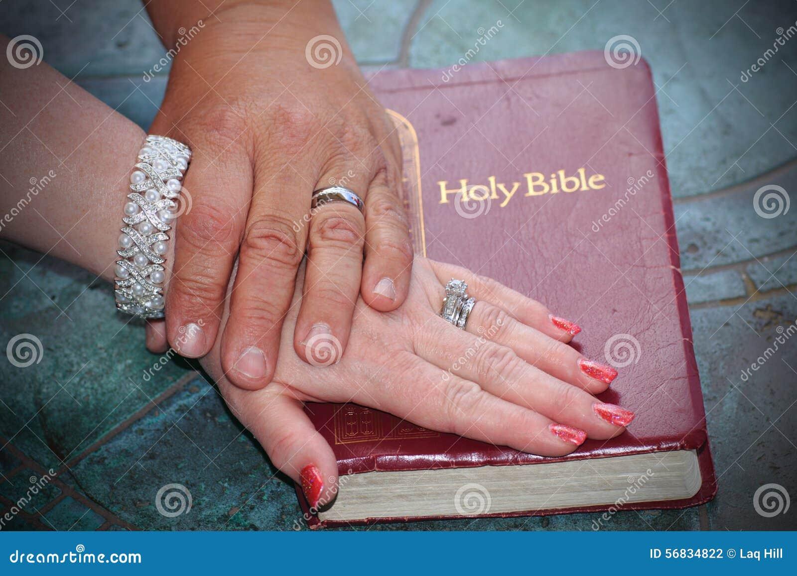 Bible Wedding Promise stock photo. Image of celebration - 56834822