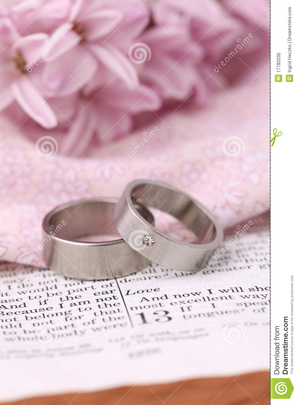 Bible and wedding rings stock image. Image of christian - 17782035