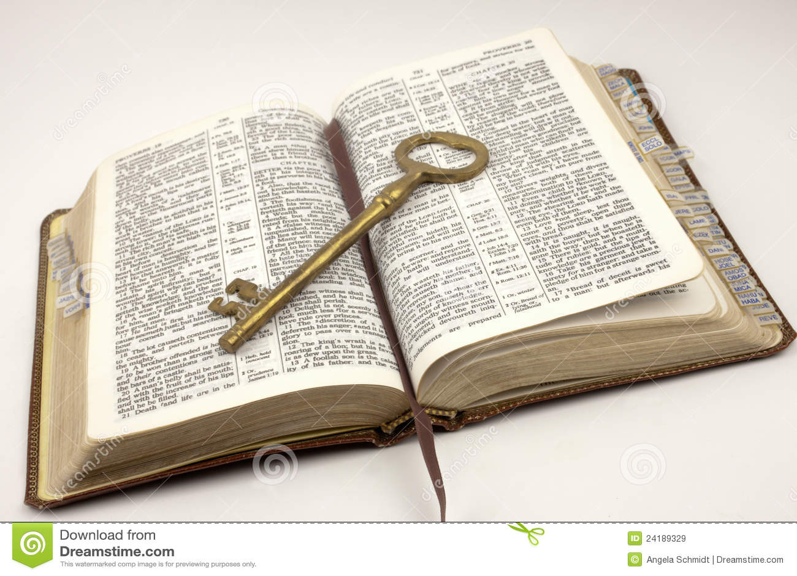 Biblia Abierta Con Clave De Oro Imagen De Archivo Imagen De Salmos