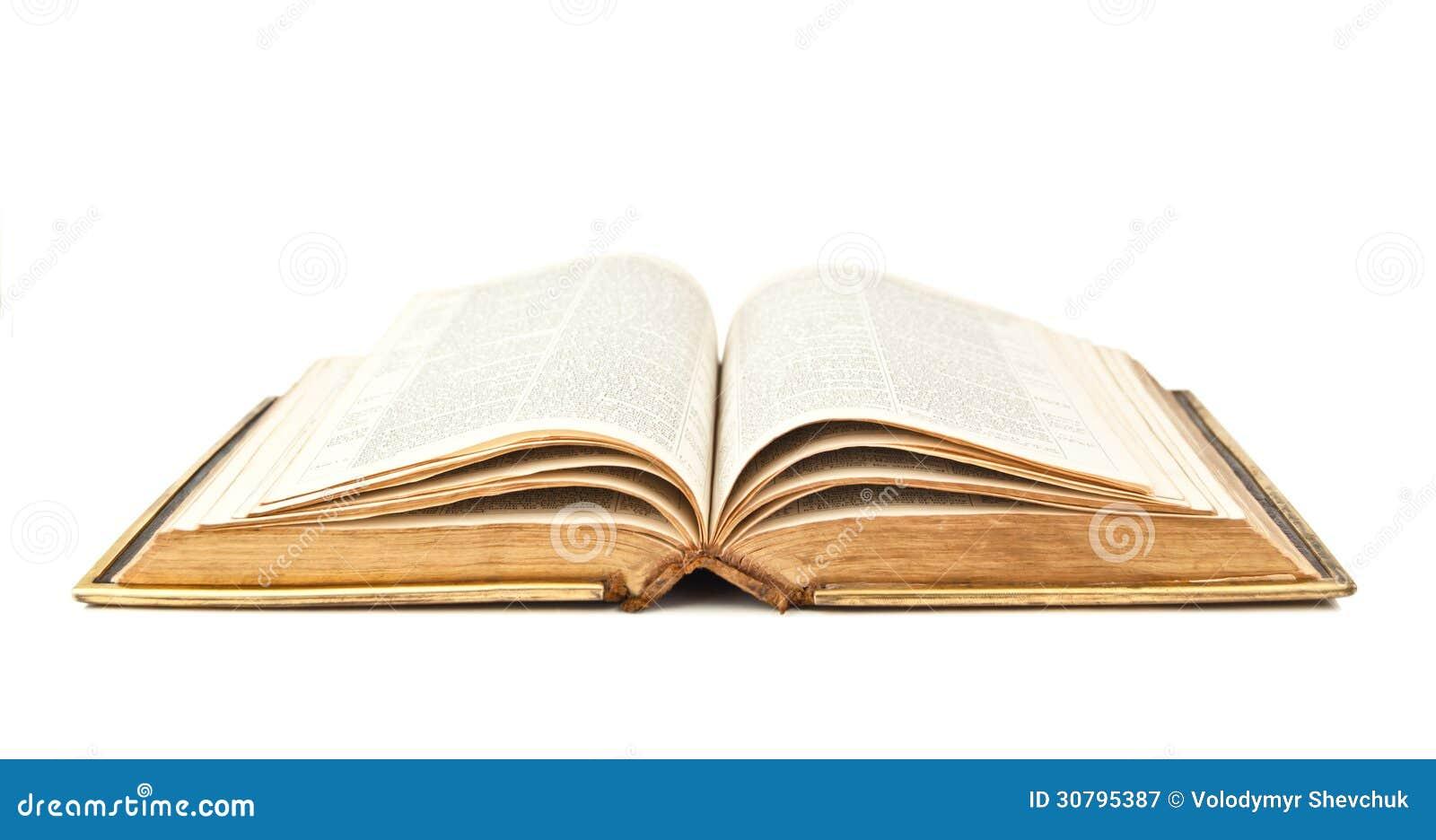 Biblia Abierta Vieja Imagen De Archivo Imagen De Paginación 30795387