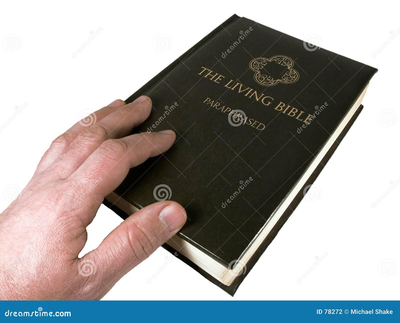 Biblia człowiek dotykania