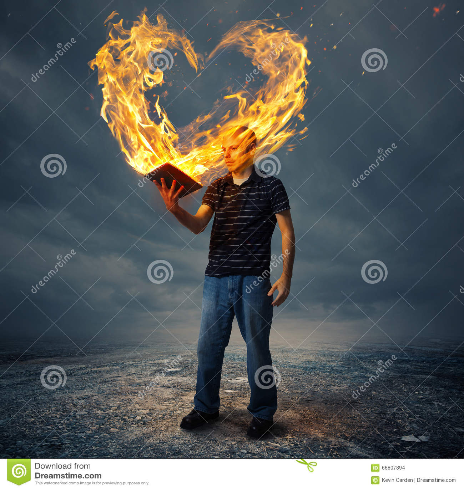 Biblii i ogienia serce
