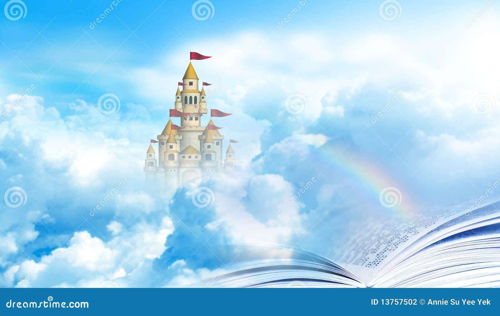 Biblii mosta kasztelu niebiańska tęcza