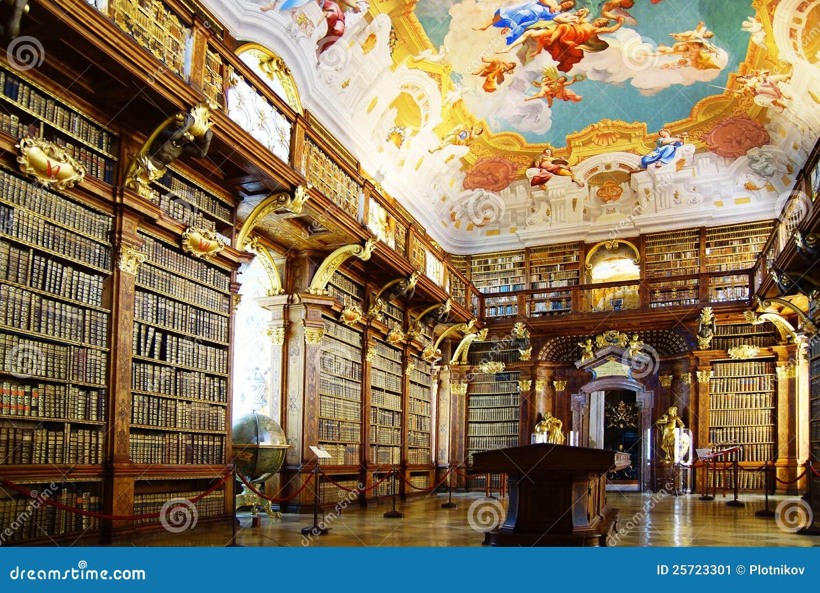 Biblioteca de monastério na abadia de Melk