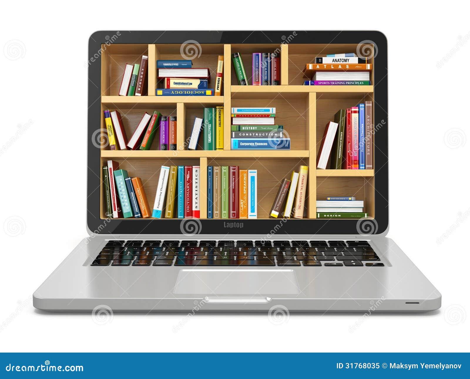 Biblioteca di istruzione o di internet di e learning for Libri internet