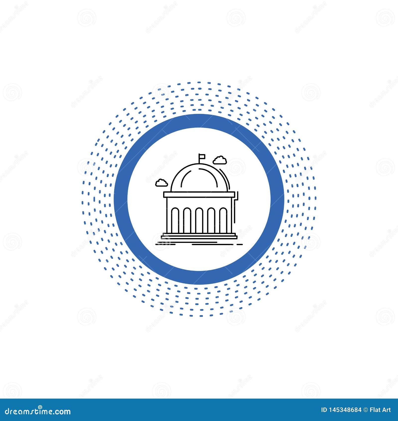 Biblioteca, escuela, educación, aprendiendo, línea icono de la universidad Ejemplo aislado vector