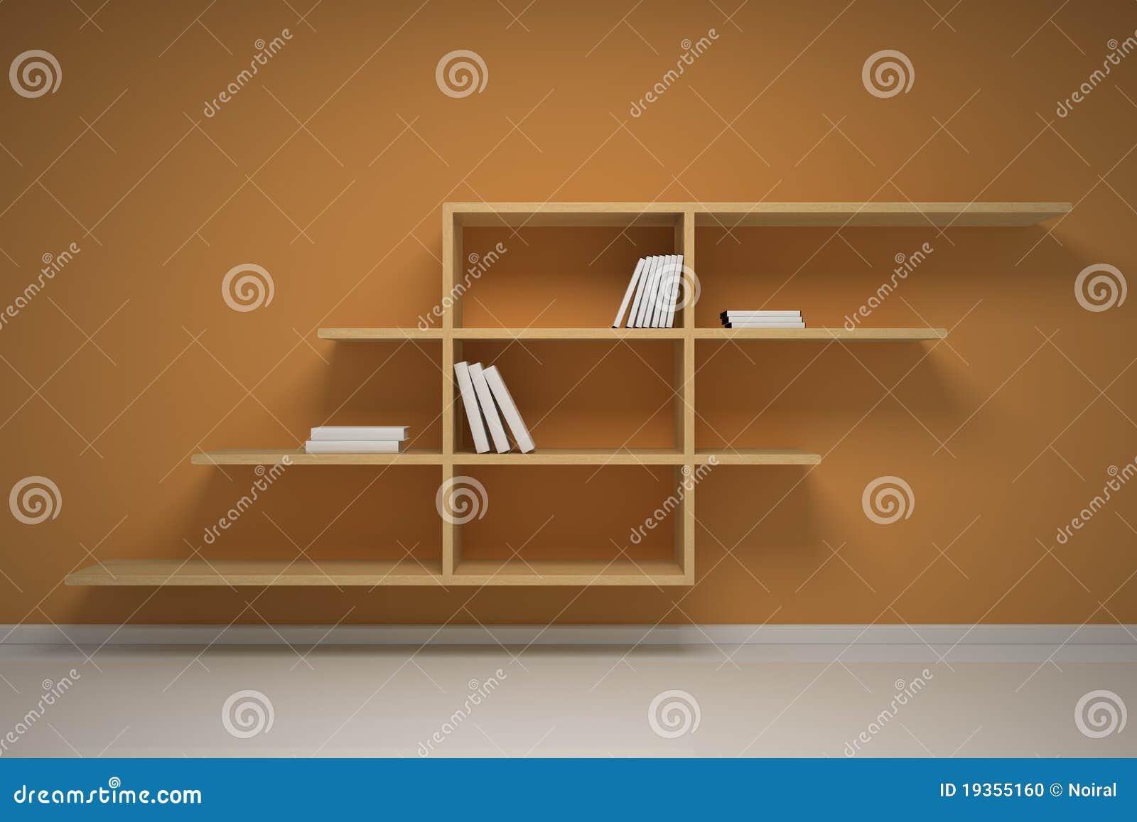 Biblioteca na parede