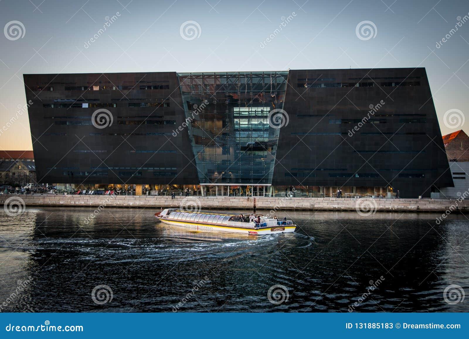 A biblioteca real no porto de Copenhaga dinamarca