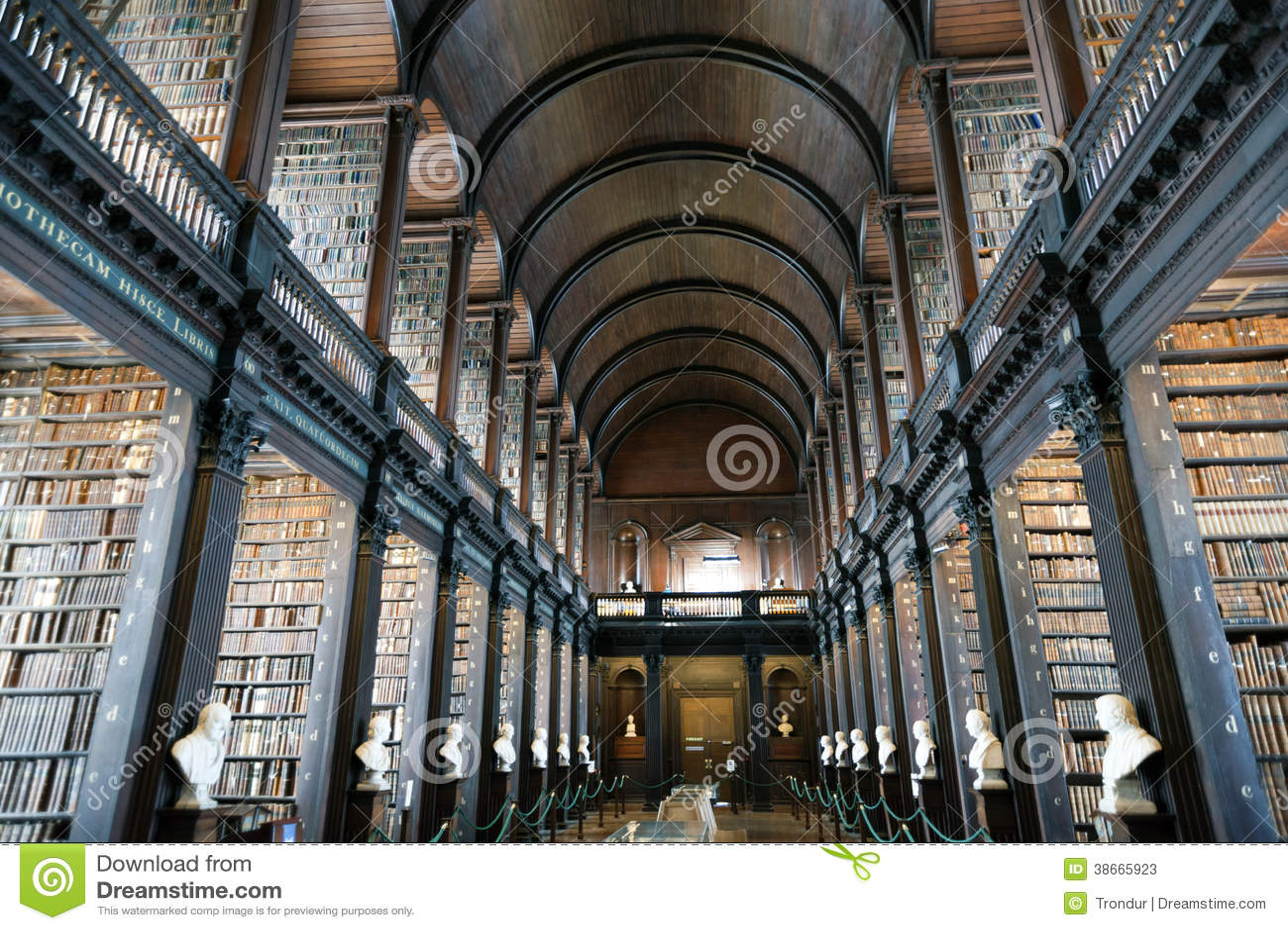 Biblioteca velha, faculdade da trindade, Dublin, Irlanda
