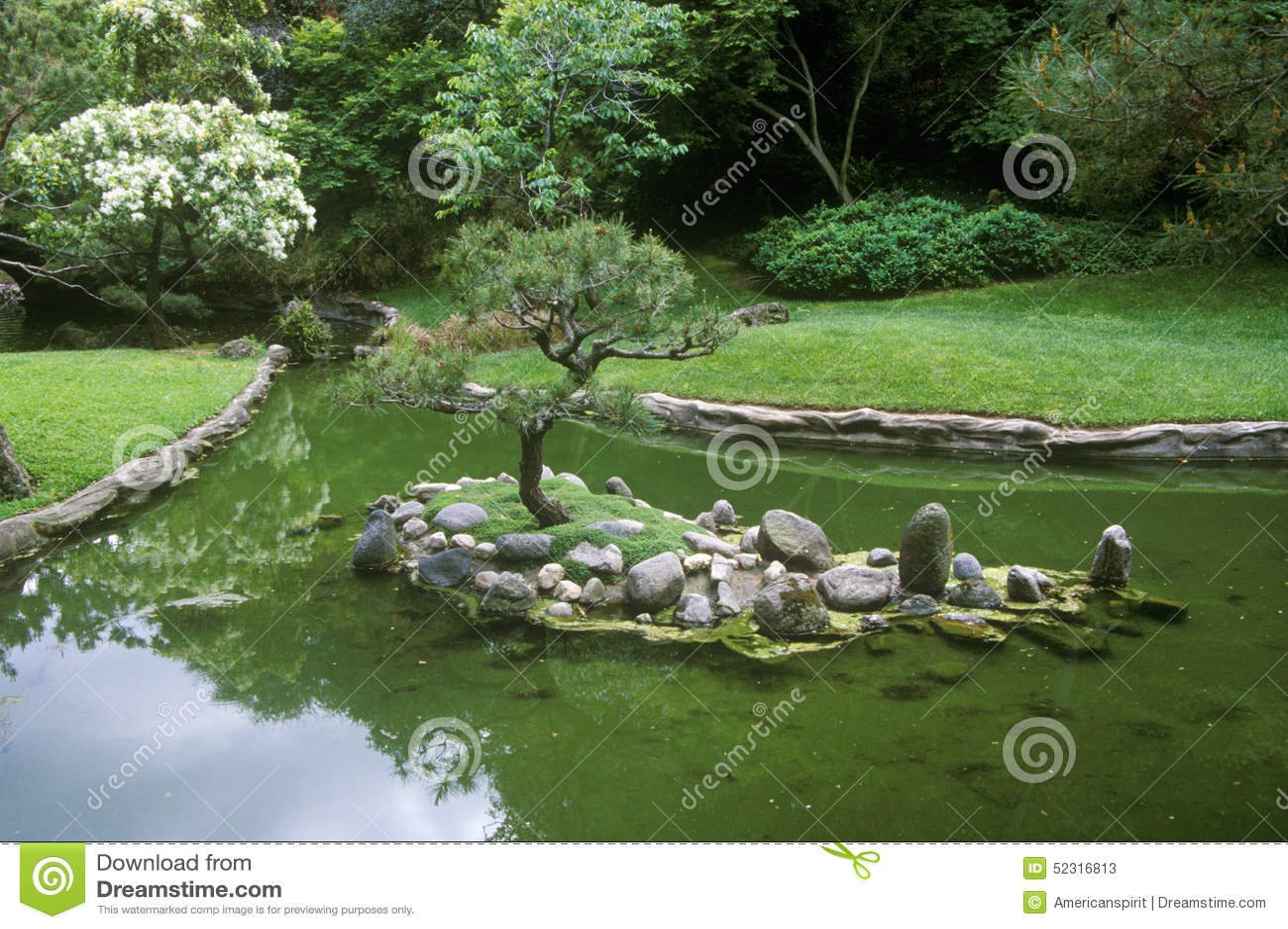 biblioteca y jardines jardines japoneses pasadena ca de huntington fotos de archivo