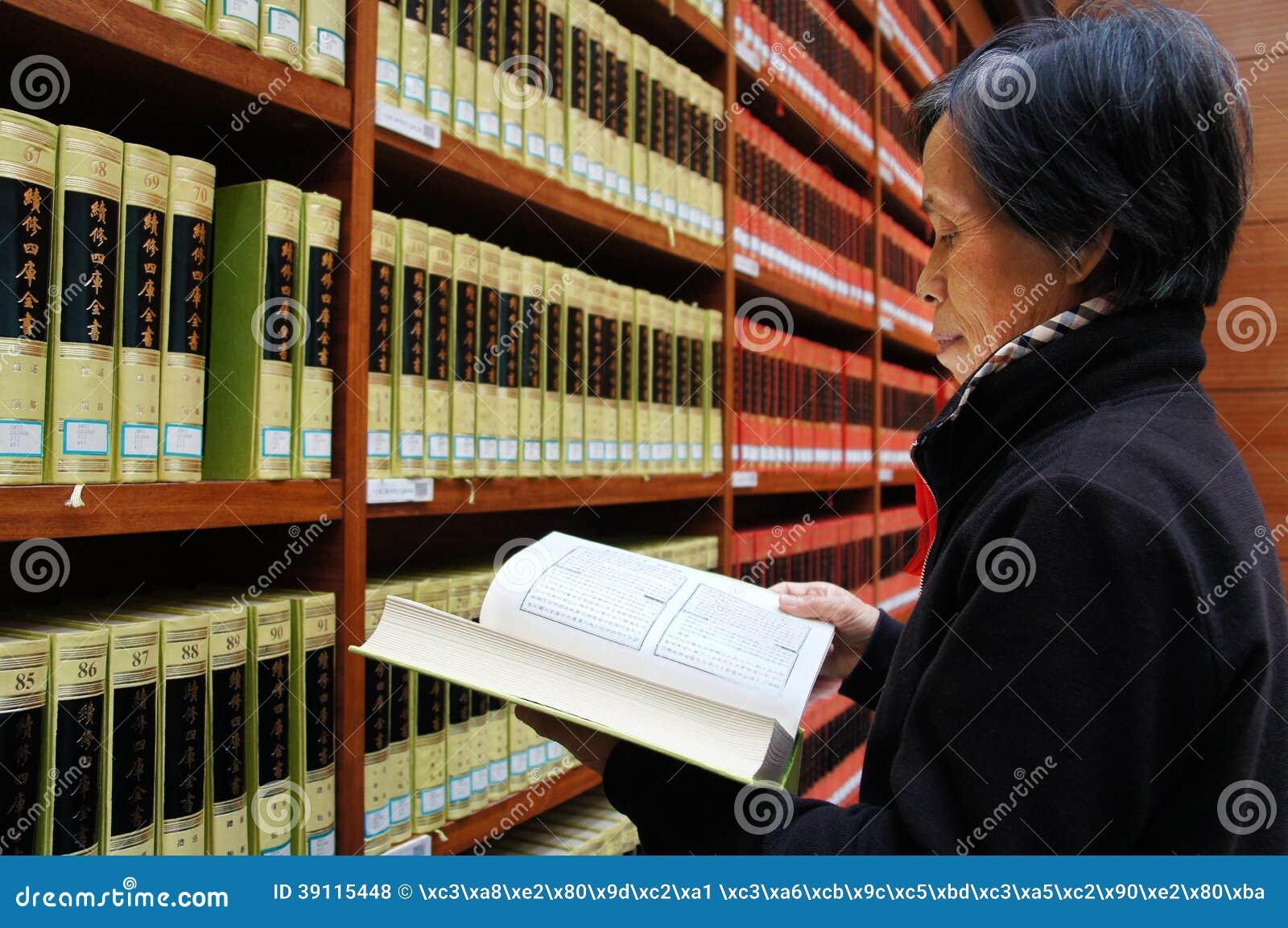 Bibliotheek, boekenrek, lezing, het denken