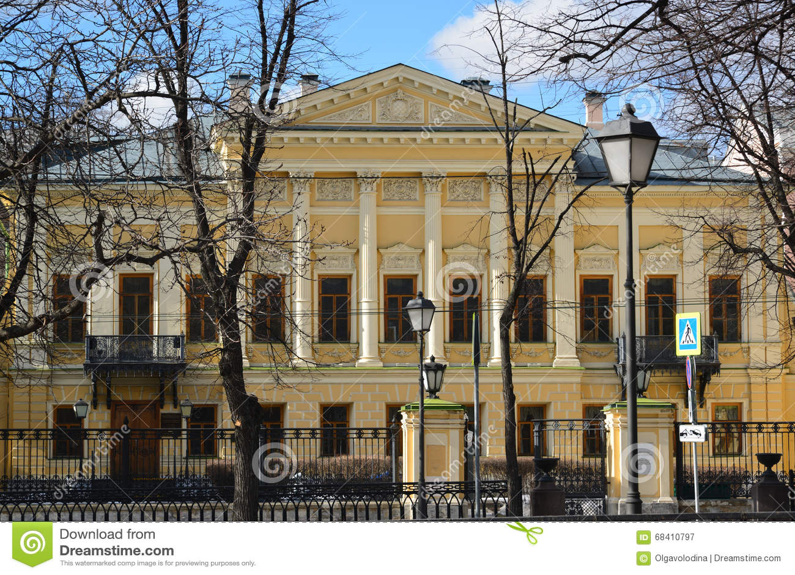 Bibliotheksname des Dichters Pushkin, ehemaliger Zustand Mamontov in Moskau, Russland