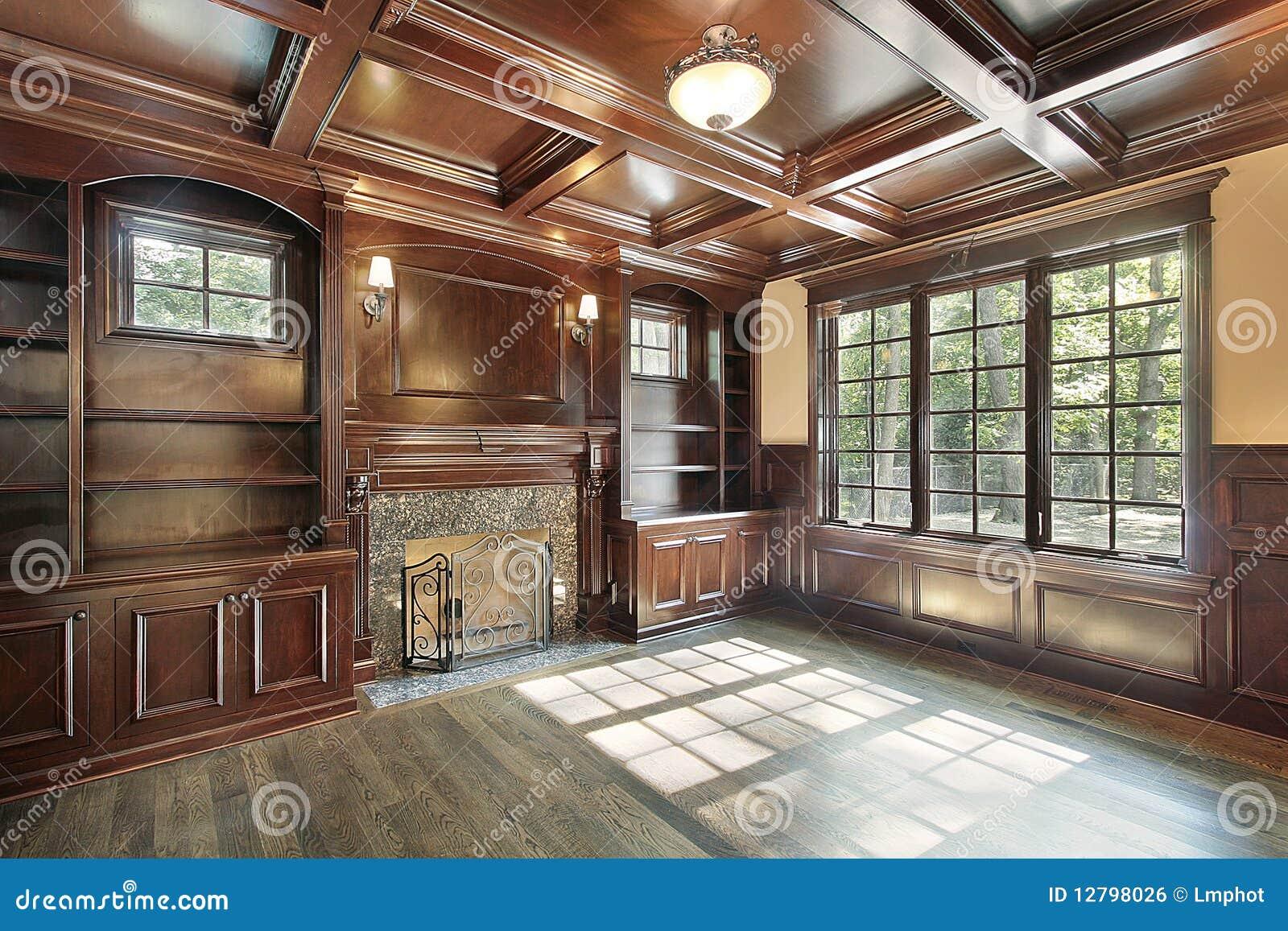 biblioth que avec la chemin e image libre de droits image 12798026. Black Bedroom Furniture Sets. Home Design Ideas