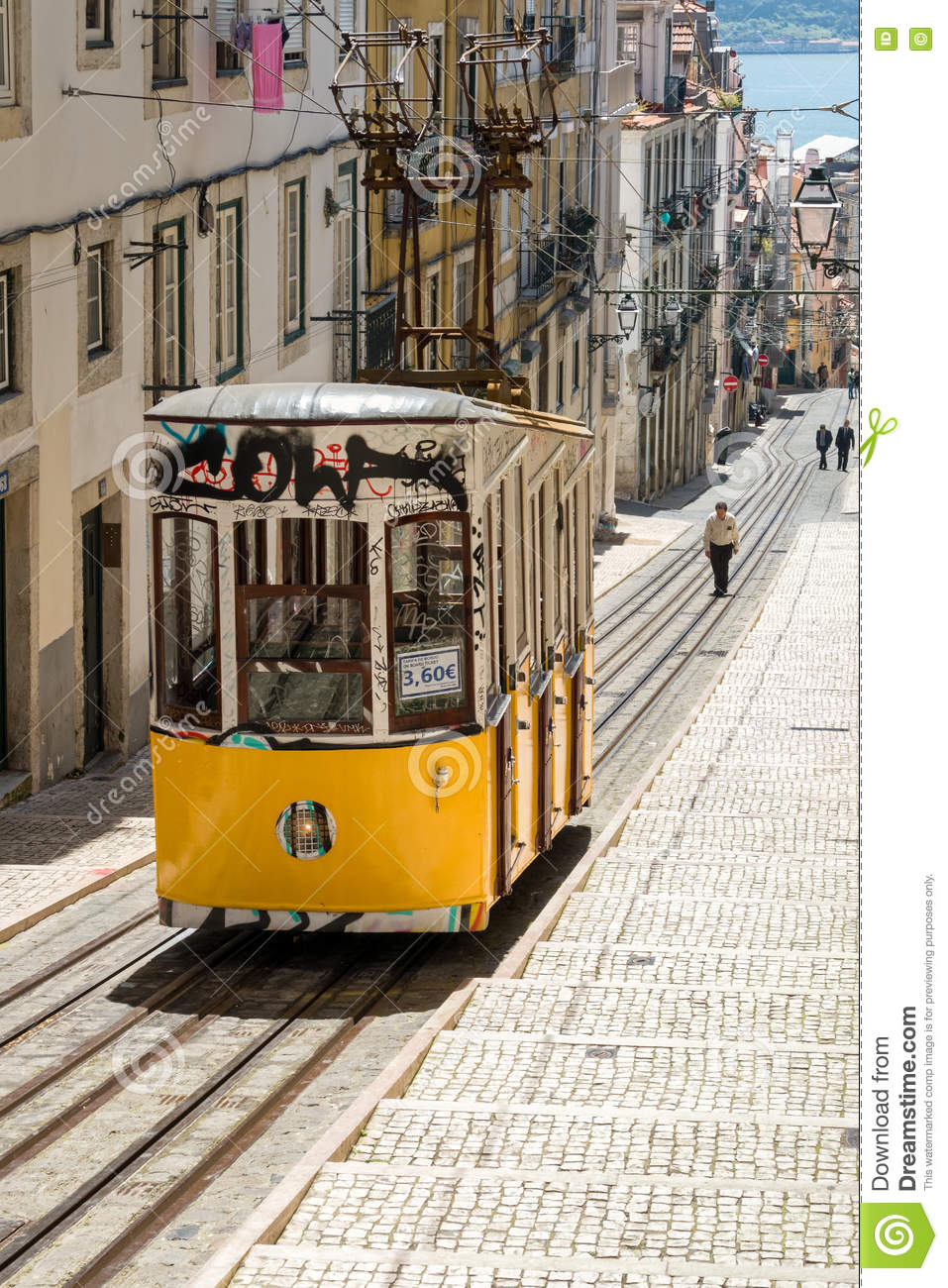 Bica Funicular Lift Lisbon Portugal Editorial Stock Photo Image Of