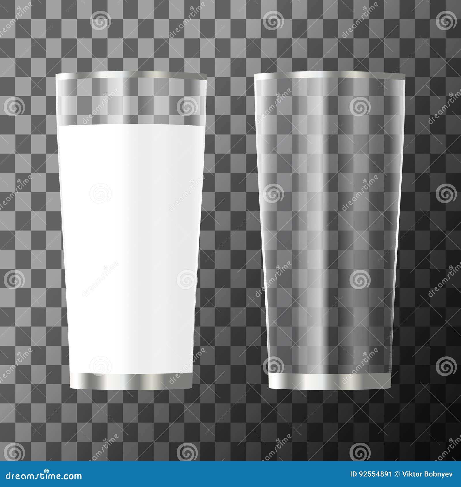 Bicchiere di latte e vetro vuoto