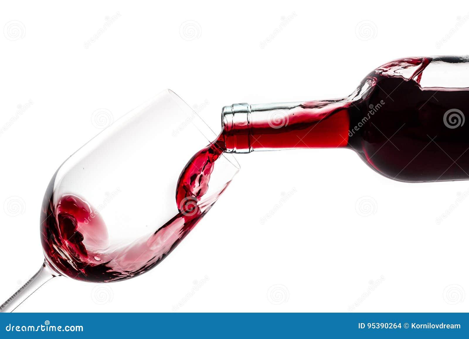 Bicchiere di vino della bottiglia di vino
