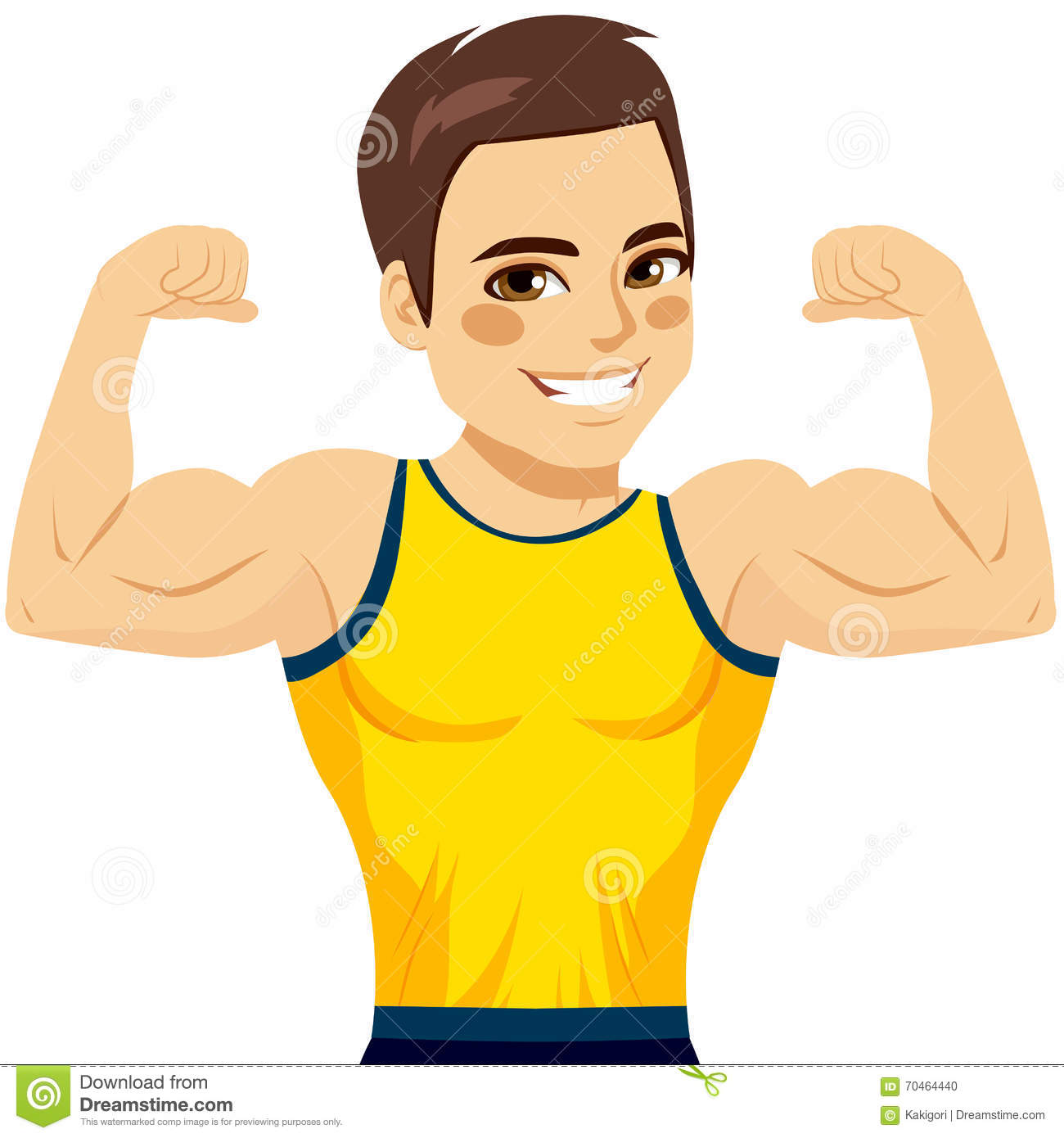 Biceps musculaire d homme