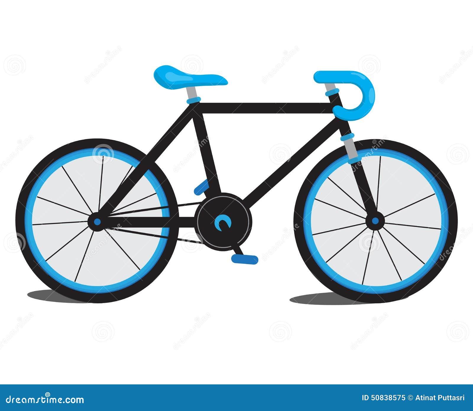 Bici azul ilustraci n del vector ilustraci n de deporte - La bici azul ...