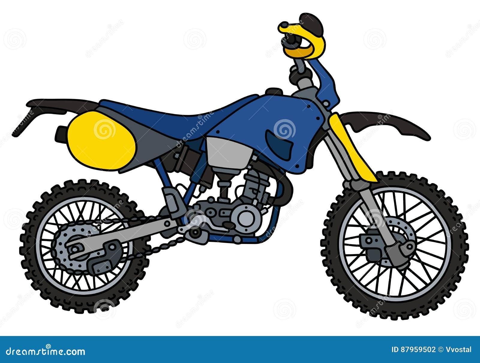 Bici Blu Di Motocross Illustrazione Vettoriale