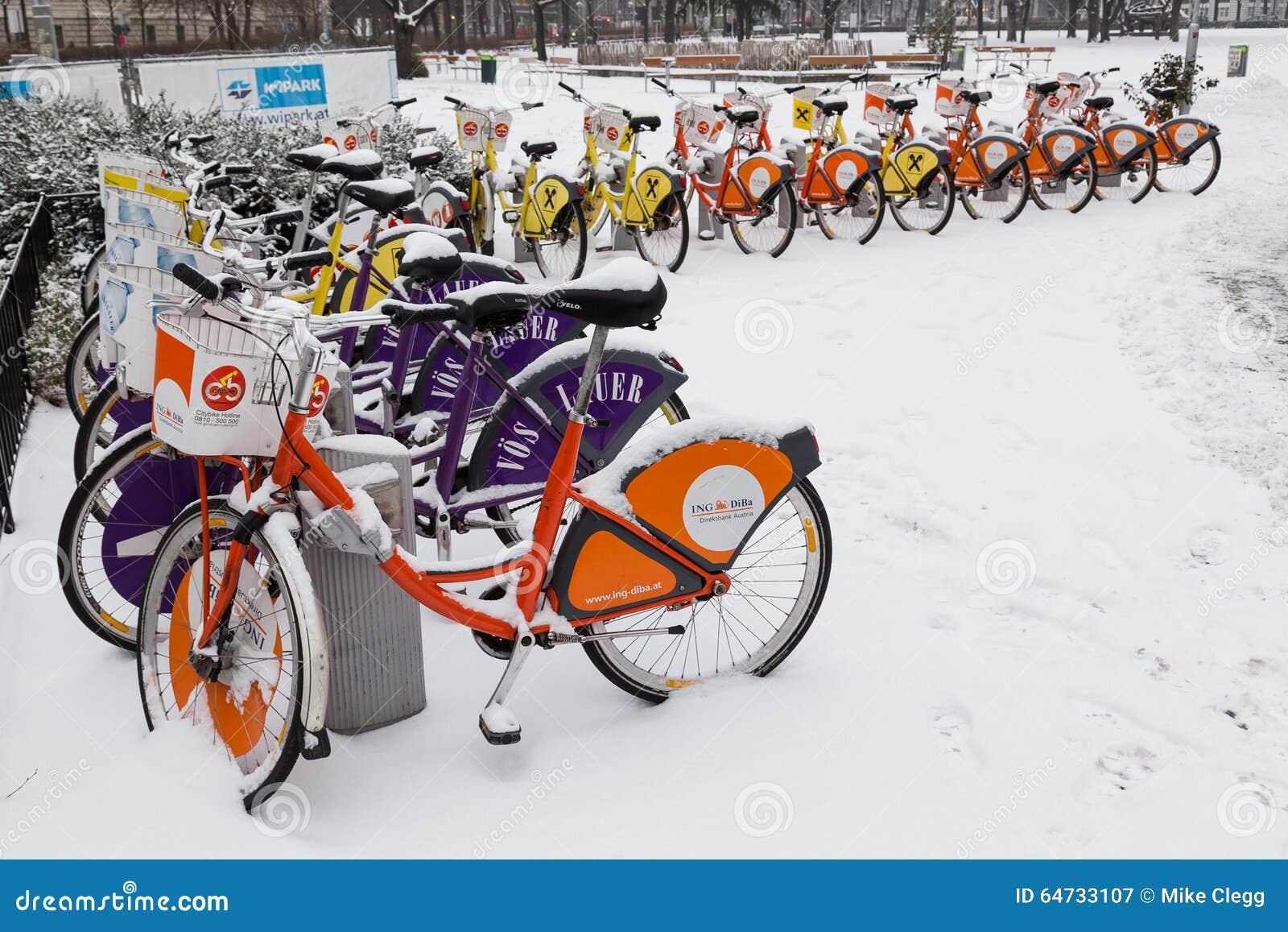 Bici pubbliche di Vienna nell inverno