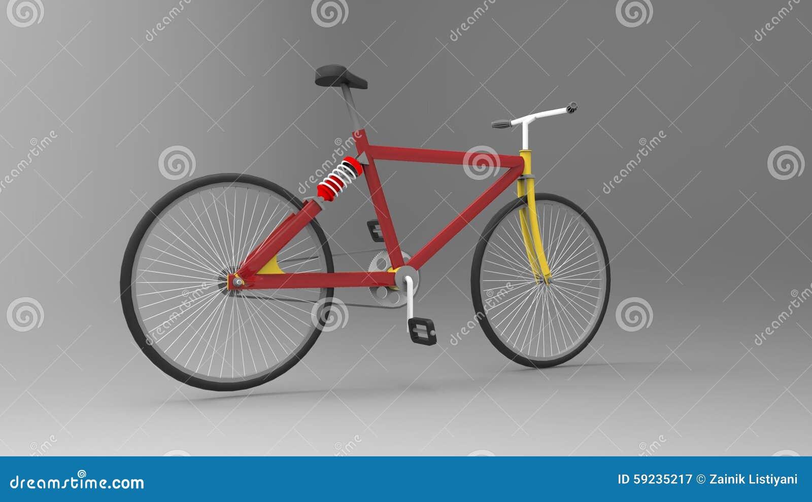 Download Bicicleta stock de ilustración. Ilustración de bici, pedales - 59235217