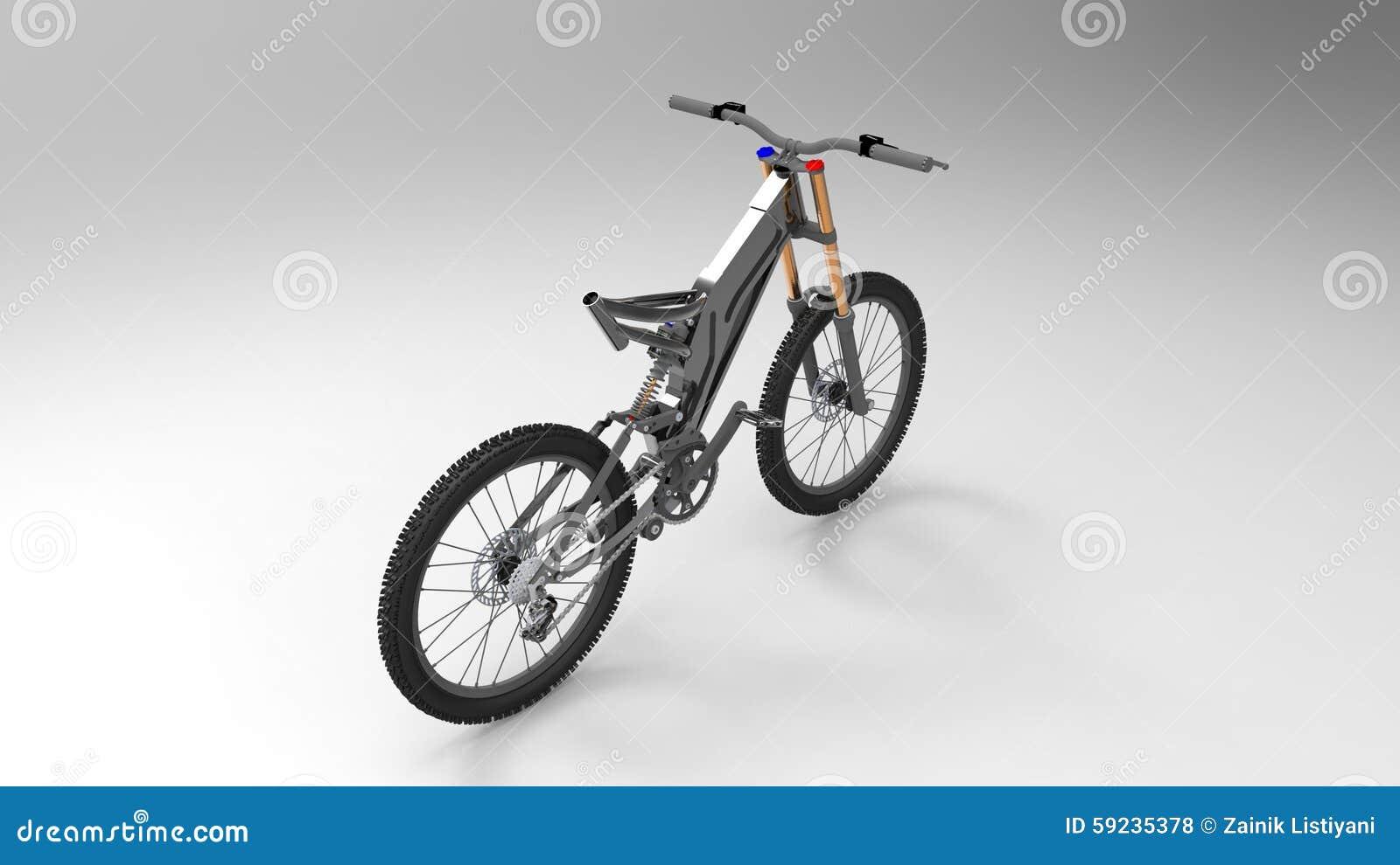Download Bicicleta stock de ilustración. Ilustración de camino - 59235378