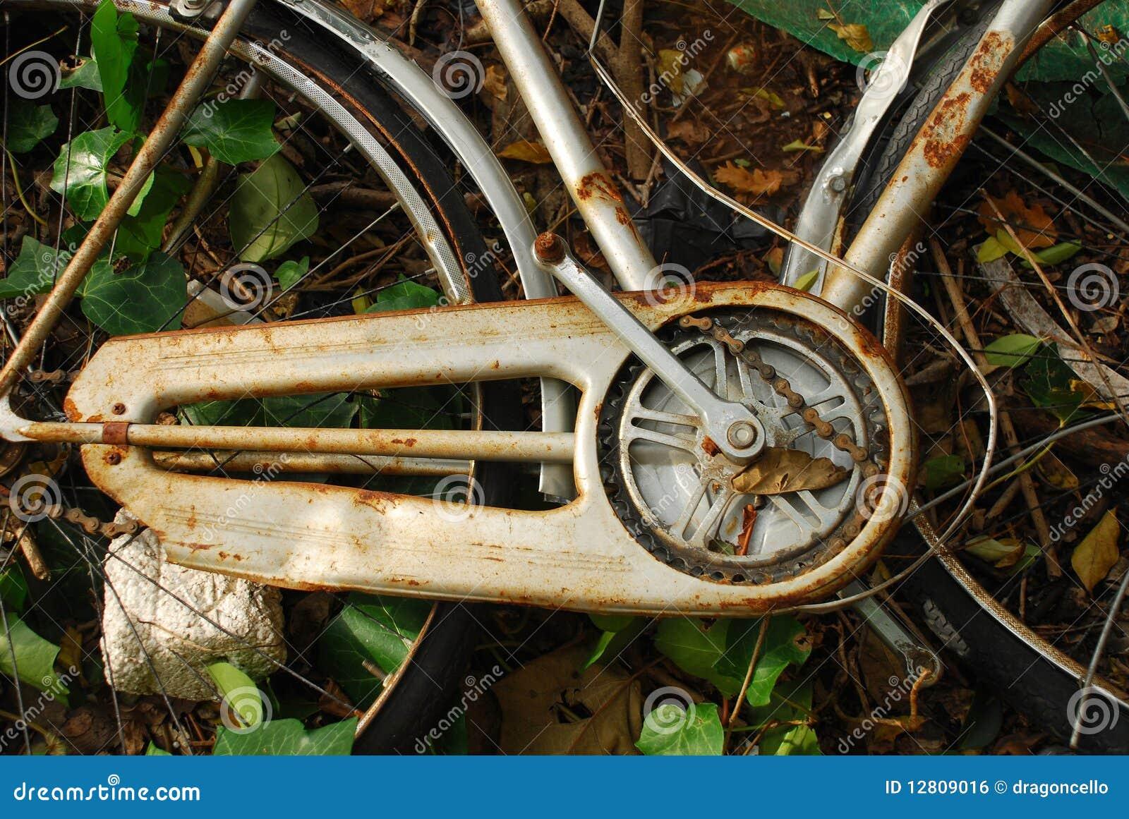 Bicicleta abandonada velha