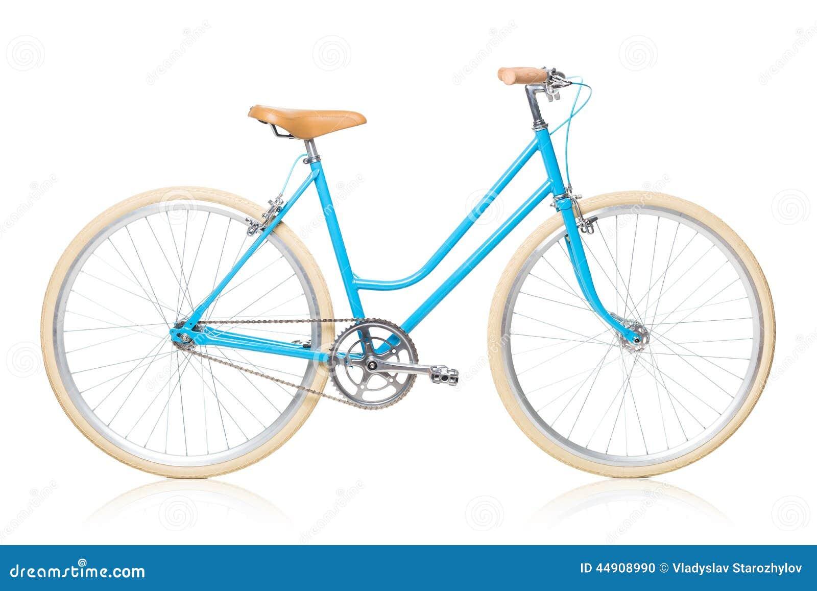 Bicicleta azul para mujer elegante aislada en blanco foto - La bici azul ...